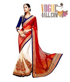 ### SPARKLING NET EMBROIDERED SAREE ###