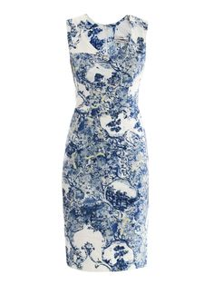 Erdem ERD-E-2690MTC-COTTON Dresses WHITE BLUE £825  An example of contrast that I love