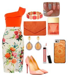 """""""Untitled #72"""" by sidranaseer ❤ liked on Polyvore featuring Roland Mouret, Oasis, Christian Louboutin, Monet, Kastur Jewels, Dorothy Perkins, Michael Kors, Bare Escentuals and Casetify"""