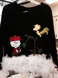 charlie brown ugly christmas sweater