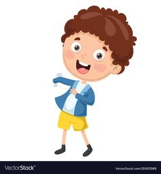 Kid wearing clothes vector image on VectorStock Free Vector Images, Vector Free, Vector Stock, Free Vector Illustration, Kid Illustration, Birds In Flight, Creative Business, Cute Art, Smurfs