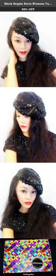 Black Sequin Beret,Womens Turban,Full Turban,Turban Headband,Turban Hat,Stretch Turban, Caps, Hats, Women Hats,Fashion Turban,Head Wrap,Head Scarf,Headband,Hipster,Fashion,Gift ,Show, Party ,Holiday. Incomparable shining, to add more charm. Easily adapt to your head shape and are designed to afford the individual wearer room to perfect their chosen positioning. This style can be worn centrally or to the side for an asymmetrical finish and is suitable for those with and without hair.About...