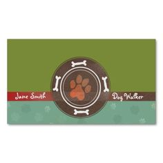 dog walking and Pet Sitting business cards. This is a fully customizable business card and available on several paper types for your needs. You can upload your own image or use the image as is. Just click this template to get started!