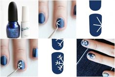 How to do : snowflake nails