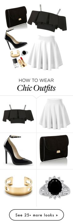 """Classy/Chic Look"" by theaaurora on Polyvore featuring Tiffany & Co., Topshop, Mansur Gavriel, NARS Cosmetics and Yves Saint Laurent"