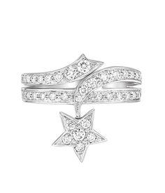Bague étoile Comète Spirale de Chanel Joaillerie en diamants