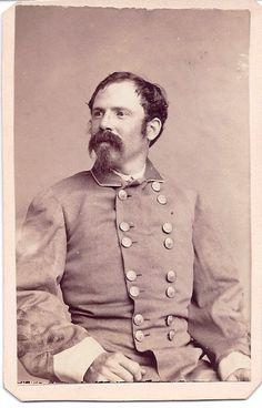"CDV of Major Thomas P. Ochiltree of Texas, a former Texas Ranger he served in the 1st Texas Infantry ""Ochiltree served on the staffs of Henry Hopkins Sibley, Thomas Green, Richard Taylor, Samuel Bell..."
