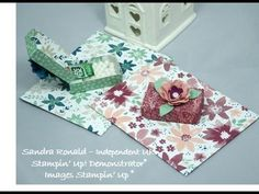 Handmade Envelope with Tic Tac Box Part 1 made by Sandra Ronald, Independent Stampin' Up Demonstrator.  All details on my website.