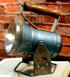 SOLD..........Vintage Up-cycled Railroad Headlight Lantern Steam Punk Re-purposed Into a Lamp #Vintage #Industrial