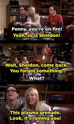 "When Penny (literally) destroyed Sheldon during Halo night. | 21 Moments ""The Big Bang Theory"" Had Absolutely No Chill"