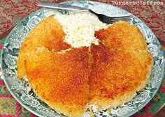 The art of making Persian tah-dig Persian Food, Persian Recipes, Iranian Cuisine Iranian Dishes, Iranian Cuisine, Iranian Food, Persian Rice, Easy Persian, Indian Food Recipes, Ethnic Recipes, Eastern Cuisine, Dressings