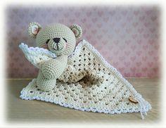 New crochet doll blanket size Ideas Crochet Scarf Easy, Baby Blanket Size, Baby Boy Crochet Blanket, Crochet Lovey, Crochet Baby Cocoon, Lovey Blanket, Crochet Teddy, Baby Boy Blankets, Crochet Motif