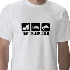 Eat Sleep C.O.D (Call of duty) mens   t-shirt  All sizes various colours