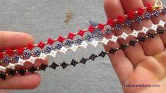 Paper Beads Tutorial, Beaded Bracelets Tutorial, Seed Bead Tutorials, Beading Tutorials, Beaded Jewelry Patterns, Bracelet Patterns, Fusion Beads, Diy Earrings Dangle, Friendship Bracelets With Beads