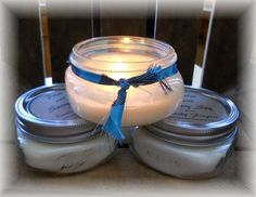 8 oz jar candles from Prim and Sassy Soy