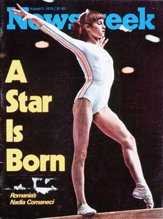 In 1976 Nadia Comaneci Becomes The First Gymnast In Olympic History To Score A Perfect 10 Gymnastics History, Sport Gymnastics, Olympic Gymnastics, Olympic Games, Nadia Comaneci Perfect 10, On This Date, Piece Of Music, A Star Is Born, Sports Stars