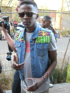 Street Style: STR CRD | Blaque Magazine / love the print on the denim vest