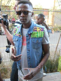 Street Style: STR CRD   Blaque Magazine / love the print on the denim vest