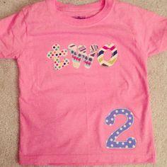 Child's birthday t-shirt from SewShea on Etsy