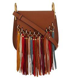 hayley small suede/leather hobo bag, eucalyptus, size: s - chloe