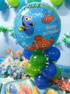 Nemo birthday Balloon center piece by Loren Michelle
