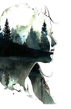 Gefälschte Kunststoff Bäume Druck von von JessicaIllustration