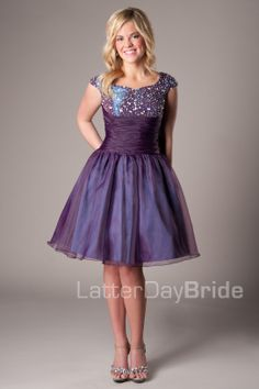Alexa -Modest Mormon LDS Prom Dress