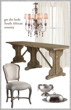 Get the Look: South Africa Serenity #Dining #Interior #Neutral #Chandelier
