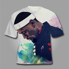 Lebron James - King James 3D Digital Full Print T shirt - ALL SIZES -Miami Heat