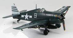 Hobby Master - 1:72 Air Power Series    Grumman F6F-5 Hellcat,Lt. H. McWhorter III, VF-12, US Navy, USS Randolph, 1945    Ready made diecast model, scale 1:72, wingspan: 180mm, length: 140mm.    Landing gear can be displayed in the down or up positions, canopy open or closed.Includes display stand.