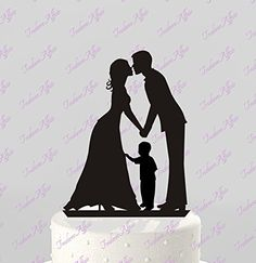Wedding Cake Topper Silhouette Groom and Bride with little boy - Family Acrylic Cake Topper [CT62b] TrueloveAffair http://www.amazon.com/dp/B00ZBCALH4/ref=cm_sw_r_pi_dp_DAYFvb1ZCVPRX