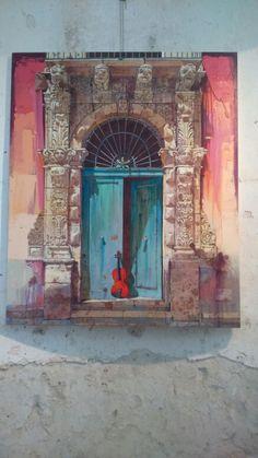 Poma Benedetto. Beautiful painting! Cefalu, Sicily.