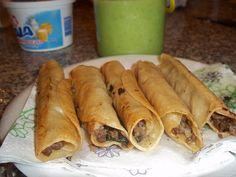 Tacos Dorados recetas   Recetas de la Guera: Tacos dorados de carne molida con epazote