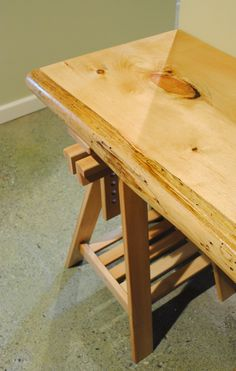 salvaged wood plank desk with IKEA base  #LiquidGoldSalvagedWood