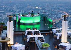 Sirocco Restaurant, Bangkok, Thailand - The Best Romantic Dinner in a Lovely Atmosphere (63rd floor)