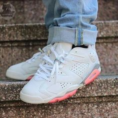 Cheap 2015 Nike Jordan 6 Cheap sale Coral Rose