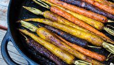 Balsamic Oven-Roasted Rainbow Carrots