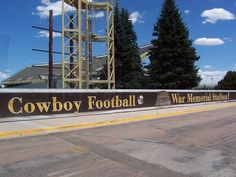 University of Wyoming Cowboys - outside of War Memorial Stadium