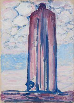 Piet Mondrian / Lighthouse in Westkapelle, 1908 Art Appreciation, Figure Painting, Dutch Artists, Painting, Art, Art Movement, Abstract, Lighthouse Art, Piet Mondrian Painting