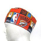 For Sale - Oklahoma City Thunder Mens Scrub Hat, Chemo Hat, Skull Cap, Velcro Close