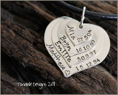 YONDALE DESIGNS Personalised Hand Stamped Silver Jewellery & Giftware