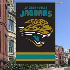 Jacksonville Jaguars Black Applique NFL Flag