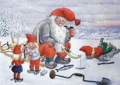 My collection. Trolls and gnomes. - Юлия К - Веб-альбомы Picasa Scandinavian Gnomes, Scandinavian Christmas, Christmas Elf, Christmas Photos, David The Gnome, Elves And Fairies, Woodland Creatures, My Collection, Watercolor Illustration