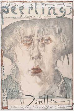Gouache, Horst Janssen, George Grosz, Exhibition Poster, Pencil Illustration, Pastel, Museum, Face Art, Art Pictures