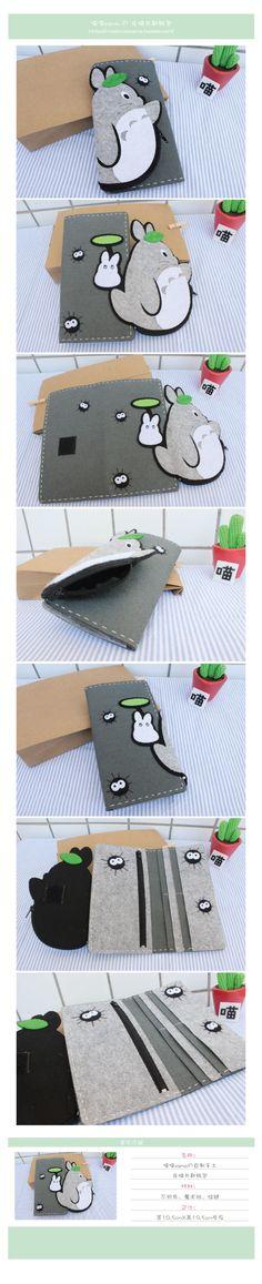 Portacarte Totoro, da fare anche in versione astuccio.