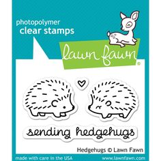 You'll love the clever phrase and adorable images of the Hedgehugs Clear Acrylic Stamp Set by Lawn Fawn. This set coordinates with the Hedgehugs Lawn Cuts Lawn Fawn Blog, Tampons Transparents, Lawn Fawn Stamps, Penny Black, Simon Says Stamp, Copics, Digital Stamps, Clear Stamps, Project Life