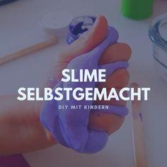 Make slime yourself: slime recipe from detergent & glue - Make slime yourself: slime recipe from detergent & glue - selber machen Homemade Slime, Diy Slime, Glue Slime, Cool Slime Recipes, Fluffy Slime Recipe, How To Make Slime, Making Slime, Wie Macht Man, Diy School Supplies