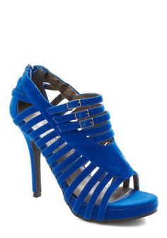 These are the kind of shoes that make me curse! ...curse my flat feet. sigh. You're on Sapphire Heel, #ModCloth