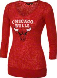 Touch by Alyssa Milano Chicago Bulls Burnout Thermal Top