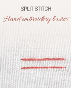 What is split stitch and how to work it